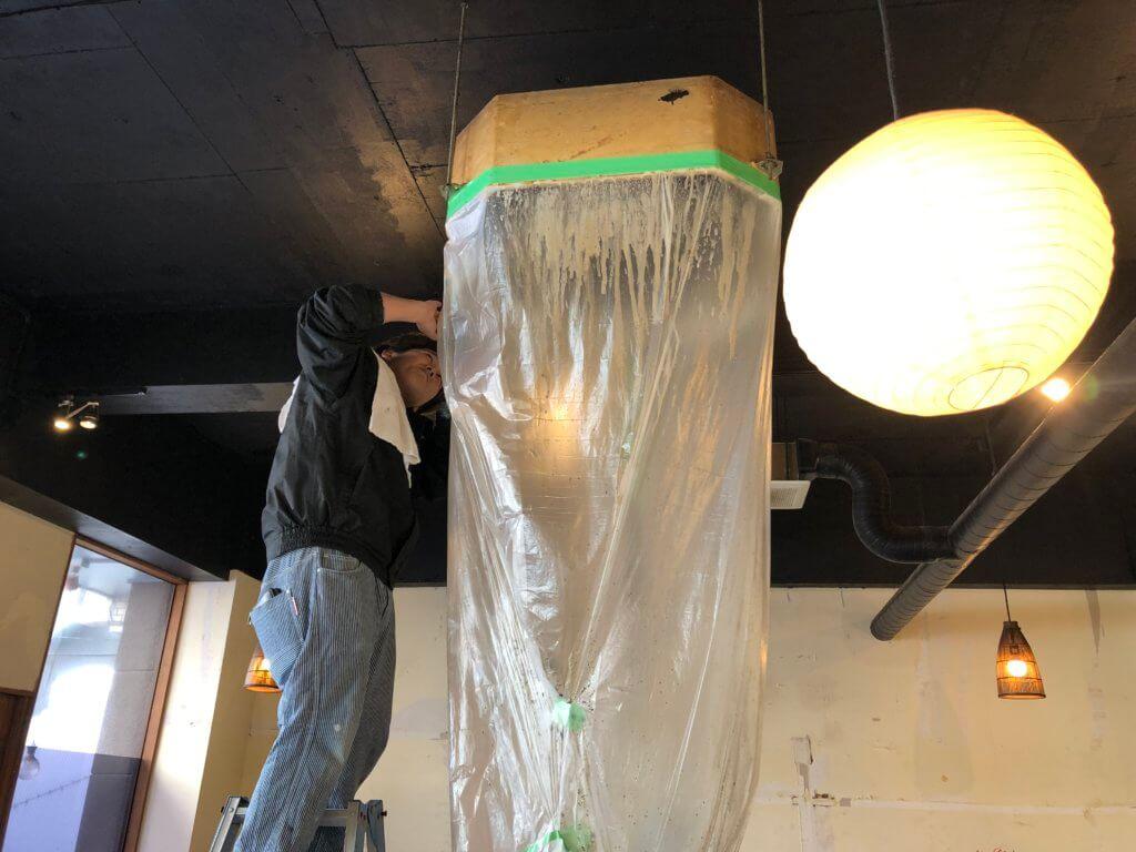 パッケージエアコンのエアコンクリーニング